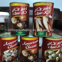 Very high quality canned mushroom salt preservation process canned food canned champignon mushroom
