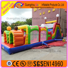 Outdoor toys giant inflatable obstacle course for kids, inflatable floating obstacle for commercial