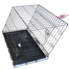 Collapsable stainless steel metal dog cage