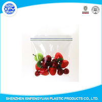Two Side Colorful Zipper Seal Plastic Zipper Bag for Packing Fruit