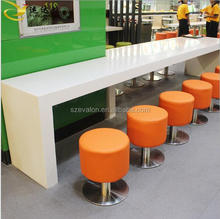modern solid surface wall mounted dining table, wall mounted kitchen tables, artificial stone tale top for dining room