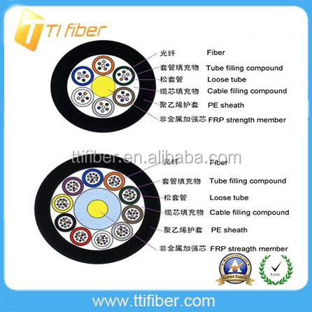 High quality outdoor GYFTY 12/24/48/95/144 fibra optica cable