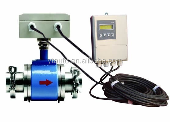 magnetic flowmeter with remote control 4-20mA output/china flowmeter for Beer production