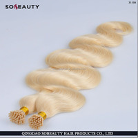 100% remy hair 5A 6A 7A full cuticle no sheding no tangle cold fusion hair extensions