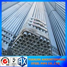 en39 hot dipped galvanized steel pipe /black steel pipe!threading end galvanized pipe with pvc cap!galvanized steel pipe factory