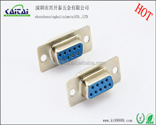 d sub high density db9p solder female adapter