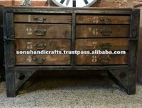 Indian Industrial Old Style Furniture