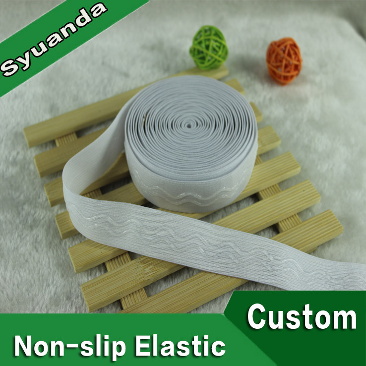 Polyester Knitted Non-slip Silicone Elastic Waistband