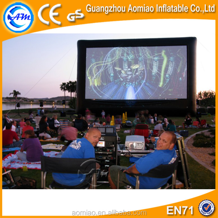 2016 inflatable cinema/movie screen, indoor/outdoor air screen inflatable