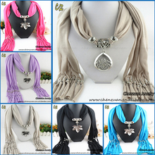 Hot sale pendant embellished decorative scarf with beads jewelry