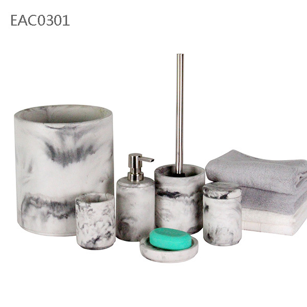 Marble decoration cement bathroom accessories buy cement for Marble bathroom accessories