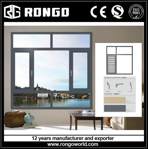 RONGO aluminum French kitchen window from China manufacturer supplier