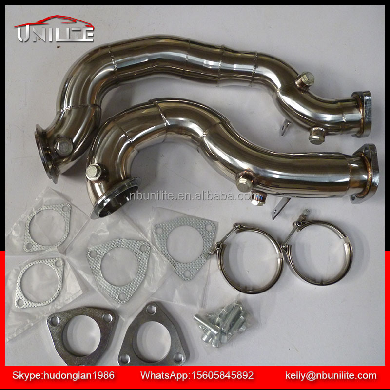 Stainless Steel Exhaust Downpipe for B MW N54 B30 engines 1 Series E82 E88 3 Series E90 E91 E92 Z4 E89