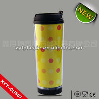 Plastic Reusable Cups Drinking Coffee Mugs