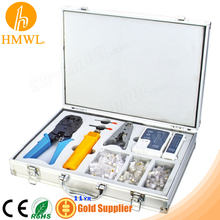 Aluminium Network RJ45 RJ11 Tool Kit for Crimping Punching Stripping Testing