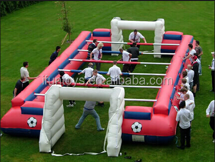inflatable human foos ball for party game / party human fooseball inflatables / inflatable foosball table