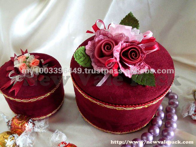 WB116 Elegant Velvet Wedding Gift Packing Box