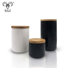 OEM Sealed Kitchen Used Tea Canisters / Food Storage Ceramic <strong>Container</strong> With Lid