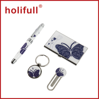 2015 hot promotional items pen keychain gift set
