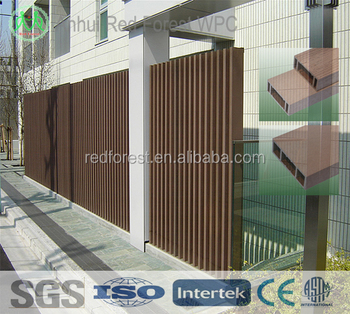 Decrative exterior wpc wall cladding with wood plastic material