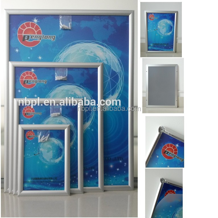 custom aluminum material snap frame poster display frame a0 a1 a2 a3 a4 a5