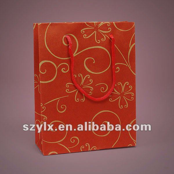red euro tote customized paper bag