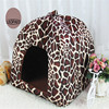 Whloesale Pet Cat House Foldable Soft Winter Dog Bed Strawberry Cave Dog House