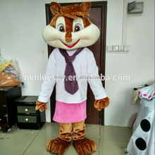 2017 Cute lady chipmunk mascot costume