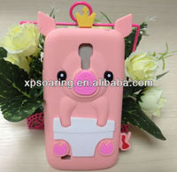 Soft animal pig silicone cover case for Samsung galaxy s4 mini I9190