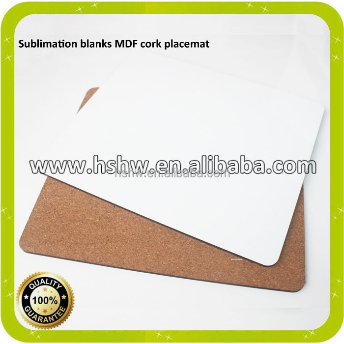 white plain sublimation MDF Placemats for heat transfer wholesales