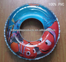 pvc inflatable nemo swim ring for kids