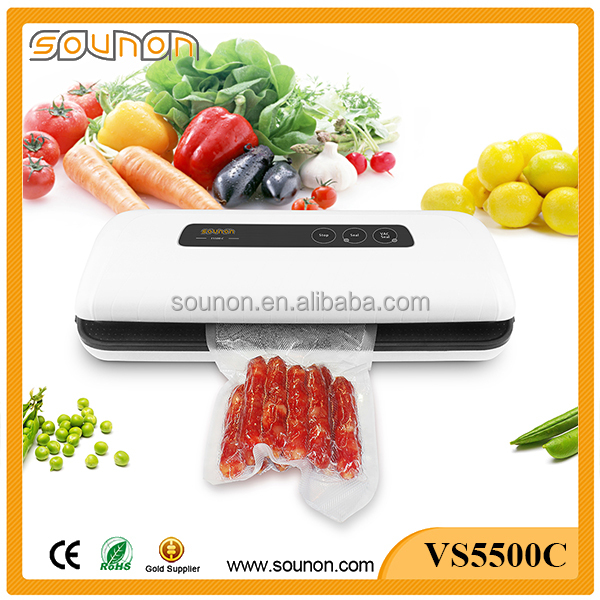 Best home use hand held food vacuum sealer with canister and buttle stoper