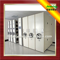 JTM Guangzhou China Manufacturer Hand Push Floating Movable Space Saving Archives Steel Mobile Compact Cabinet
