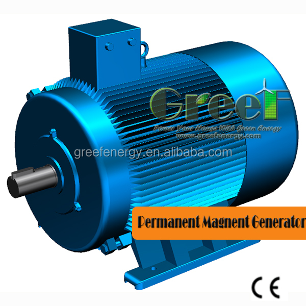 Low rpm magnet alternator 60KW 100RPM for wind and hydro power project ,60KW 100RPM Permanent magnet generator for sale
