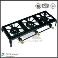 gas stove 3 burner cast iron gas burner