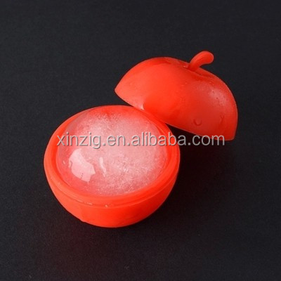 New Deisgn Apple shape silicone ice mold Eco-friendly