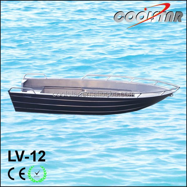 V head luxury small aluminium boat with thickness for 3 person fishing boat