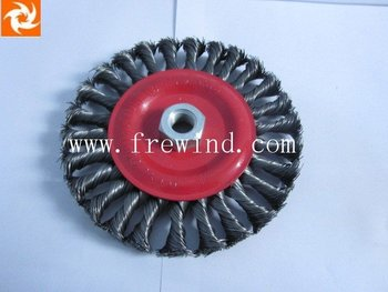 "5"" knot wire wheel brush with nut"