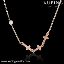necklace-00186-steel fashion accessory jewelry sideways cross necklace