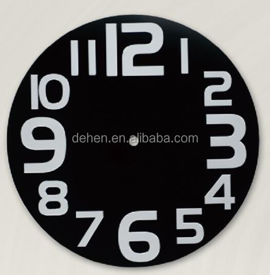 Aluminium wall clock dial face design