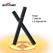 Top selling Ocitytimes custom logo disposable hemp oil vape pen electronic cigarette 200 puffs 300 puffs