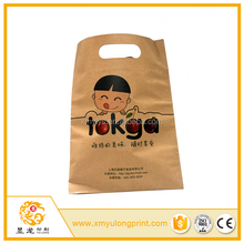 custom full color printing raw materials take away paper bag food