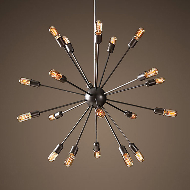 Brief modern satellite sputnik chandelier 18 heads iron hanging <strong>light</strong> for bar counter