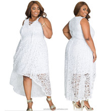 SM95201 large size XL-4XL fat women back long front short hi low lace dress