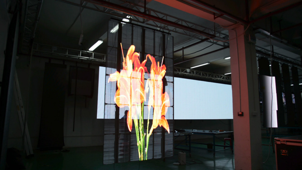 transparent led display p6/glass led display/glass video wall