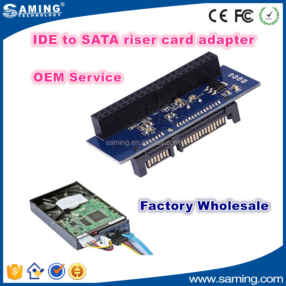 "Newest IDE to SATA riser card adapter for 3.5"" HDD"