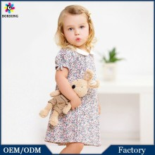 Factory Price!!! Floral Printed Baby Girl Cotton Frocks Designs Party Dress