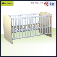 wood baby cot with playpen