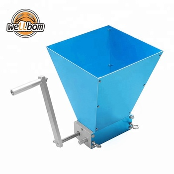 2018 Newest Stainless steel 2-roller Barley Malt Mill Grain Grinder Crusher For Homebrew Wholesale