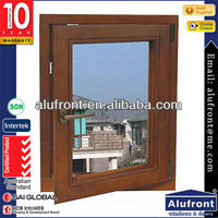 high tightness Aluminum casement window rubber seal with blind inside double glass window